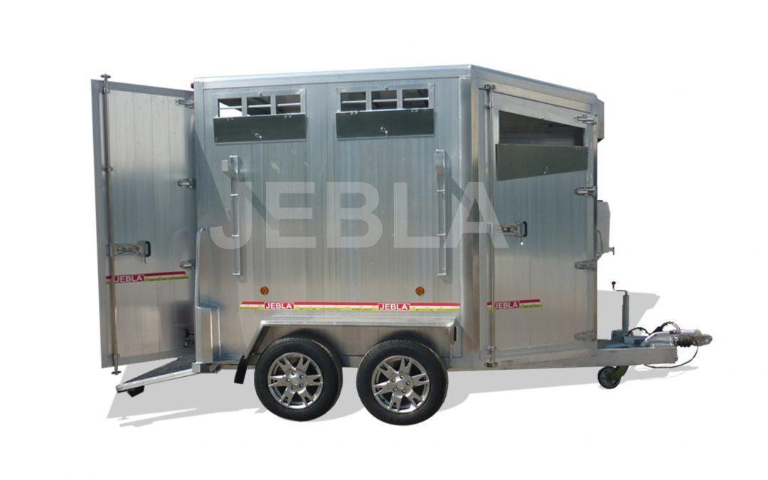 Remolque aluminio dos caballos modelo B2