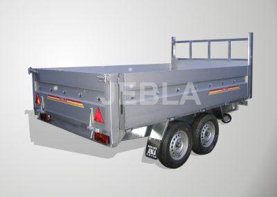 Remolque industrial de aluminio modelo I1