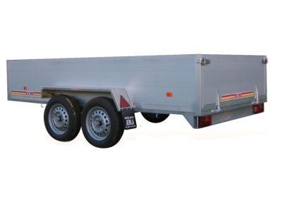Remolque de 3,00x1,60 con carrocería de Aluminio