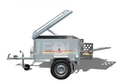 Remolque caza aluminio 1,30x1,00x0,60