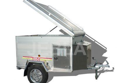 Remolque caza aluminio 1,60x1,20x0,75
