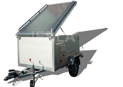 Remolque caza aluminio 2,00x1,20x0,90