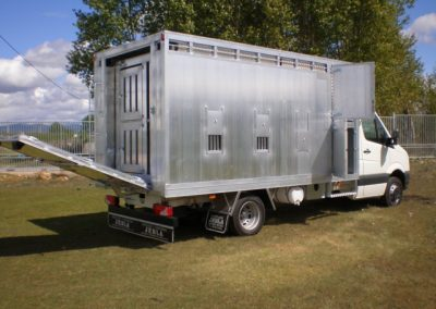 Livestock body with double deck