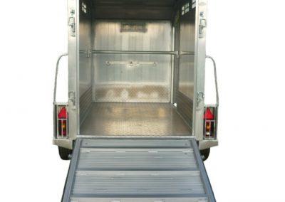 Remolque ganadero aluminio laminado cuadrado techo mo f4 - Piso porta 2000 ...