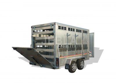 Remolque 3,50x1,80 cuadrado aluminio laminado techo
