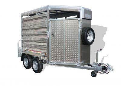 Remolques ganaderos pivote aluminio punta modelo F5 F6