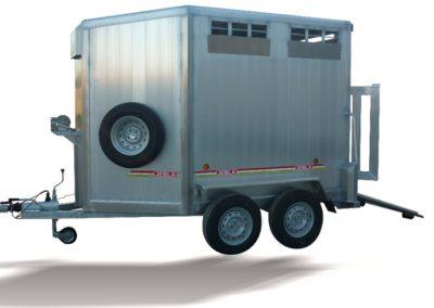Livestock trailers rolled aluminum top model F1 F2