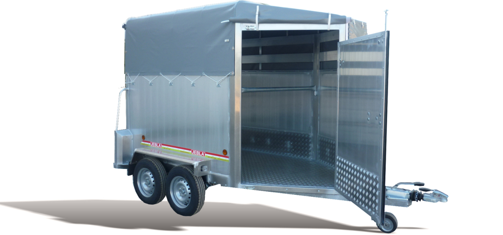 Remolque ganadero aluminio laminado punta toldo modelo f1 for Enganches para toldos