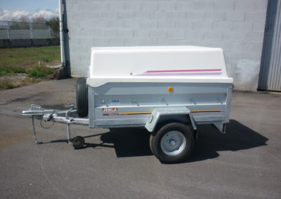 Aluminum trailer with cover time