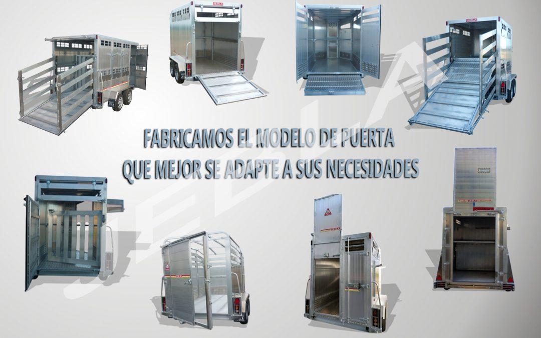 Distintos modelos de puertas de fabricación estándar