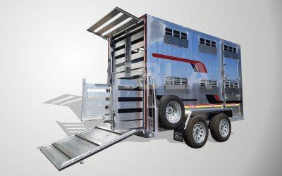 Hydraulic Double Deck Livestock Trailer