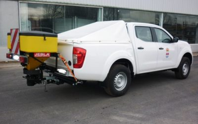 Pick-up with salt spreaders