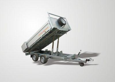 Remolque basculante industrial laterales abatibles modelo H1 aluminio