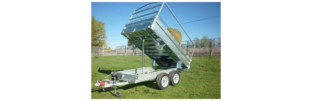 Remolque basculante industrial laterales abatibles modelo H1 galvanizado