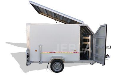 Remolque furgón cerrado para karts – Modelo M5 – Panel de aluminio