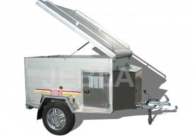 Remolque caza de aluminio de 1,60×1,20×0,75
